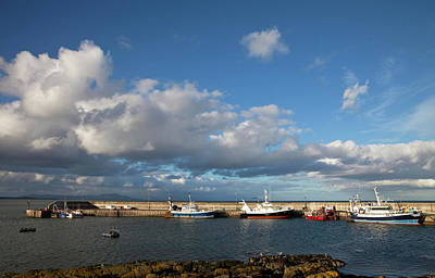 Fishing Harbour Photograph - Fishing Boats Inthe Newly Renovated by Panoramic Images