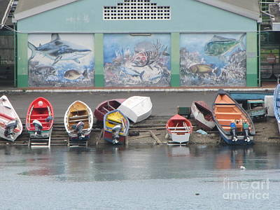 Photograph - St. Lucia Boat Yard by Neil Zimmerman