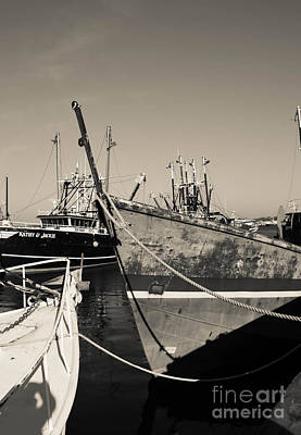 Photograph - Fishing Boats - New Bedford Pier  by Andrea Anderegg