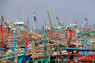 Photograph - Fishing Boats Of Bang Saphan by Nola Lee Kelsey