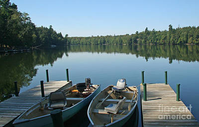 Photograph - Fishing Boats On Wilderness Lake by Kevin McCarthy