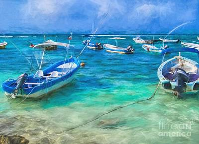 Photograph - Fishing Boats by Peggy Hughes