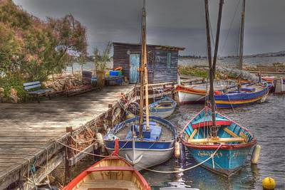 Art Print featuring the photograph Fishing Boats by Rod Jones