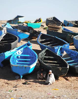 Agadir Photograph - Fishing Boats by Tracy Winter