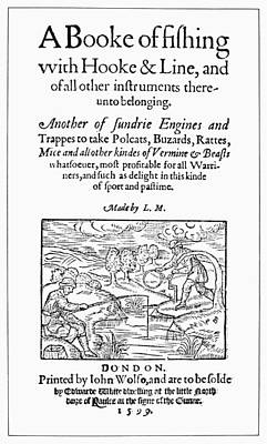 Book Title Painting - Fishing Book, 1599 by Granger