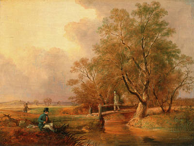 Fishing Bottom Fishing, William Jones, Active 1832-1836 Print by Litz Collection