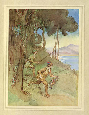 Fishing Print by British Library