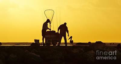 Photograph - Fishing Buddies by Lynda Dawson-Youngclaus