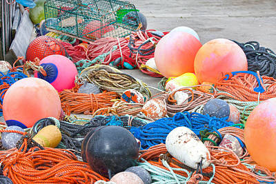 Peggys Photograph - Fishing Buoys by Betsy Knapp