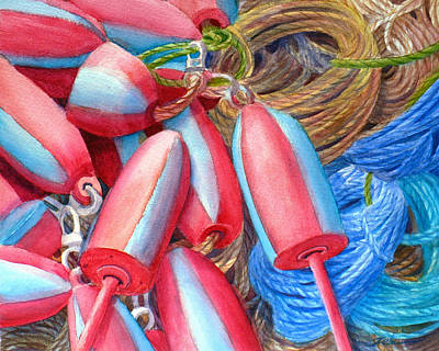 Painting - Fishing Buoys by Janet  Zeh