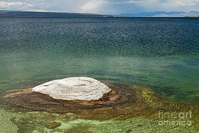 Photograph - Fishing Cone In West Thumb Geyser Basin by Fred Stearns