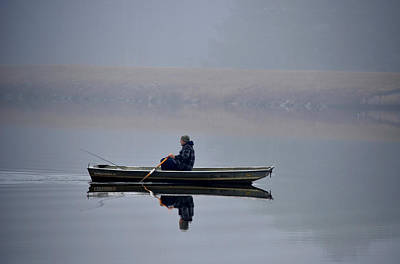 Photograph - Fishing Day Fog by Sandi OReilly