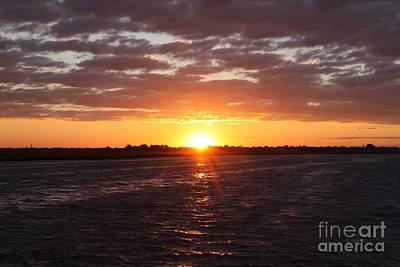 Photograph - Fishing Day Sunset by John Telfer