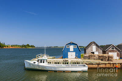 Princes Photograph - Fishing Dock In Prince Edward Island by Elena Elisseeva