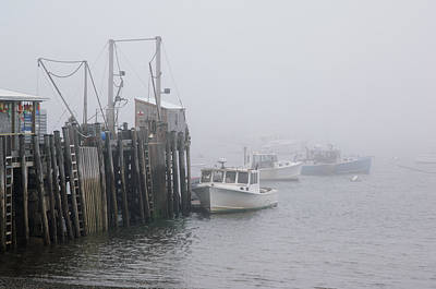 Boats Photograph - Fishing Dock by Ralph Staples