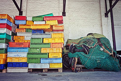 Fishing Equipment Print by Benjamin Matthijs