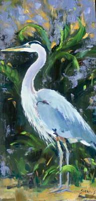 Herron Painting - Fishing Expert by Sandra Harris