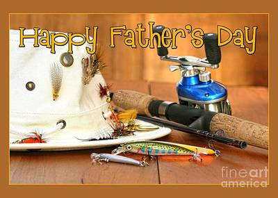 Digital Art - Fishing Father's Day by JH Designs