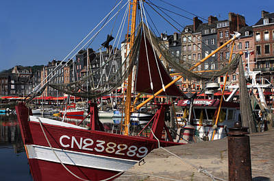 Photograph - Fishing Fleet At Honfleur, France by Aidan Moran