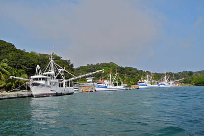 Photograph - Fishing Fleet In Mahogany Bay by Kirsten Giving