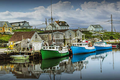 Photograph - Fishing Fleet In The Harbor by Randall Nyhof