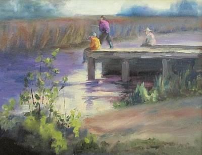 Fishing Fools Art Print by Susan Richardson