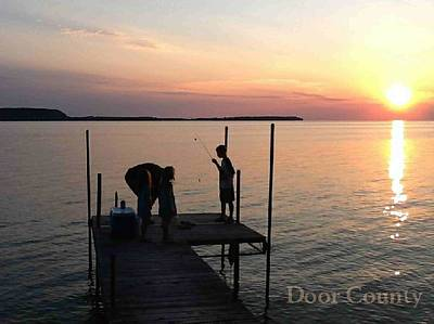 Photograph - Fishing From The Dock In The Sunset by Perry Andropolis