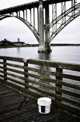 Fishing From The Pier Art Print by Image Takers Photography LLC - Laura Morgan
