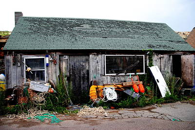 Photograph - Fishing Gear Cottage by Jacqueline M Lewis