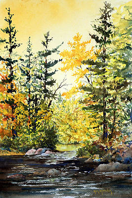 Painting - Fishing Hole -autumn by Ken Marsden