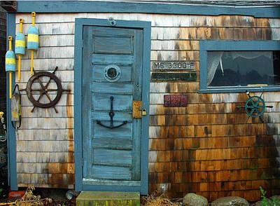 Fishing Hut At Rockport Maritime Art Print