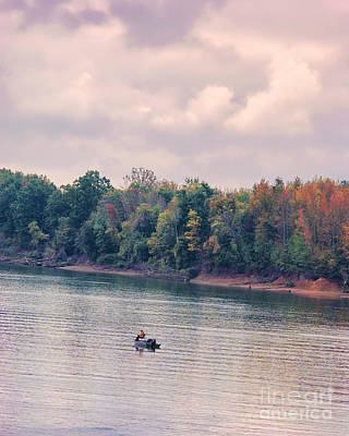 Fishing In Autumn Art Print