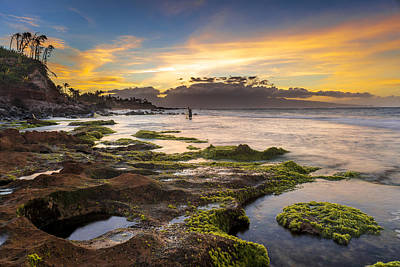 Two Waves Photograph - Fishing In Hawaii by Francesco Emanuele Carucci