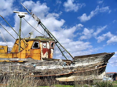 Trawler Photograph - Fishing In Memories by Jose Elias - Sofia Pereira
