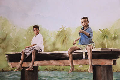Painting - Fishing In Panama by Lindsey Weimer