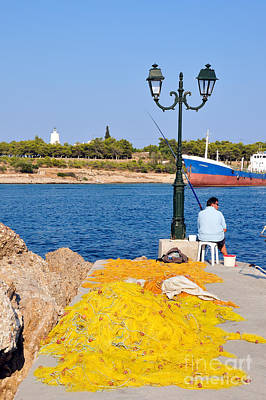Photograph - Fishing In Spetses Town by George Atsametakis