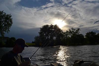 Fishing In The Dusk Original by Denise Fletcher