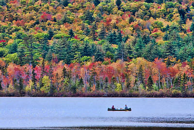 Photograph - Fishing In The Fall Colors On Lake Chocorua by Jeff Folger