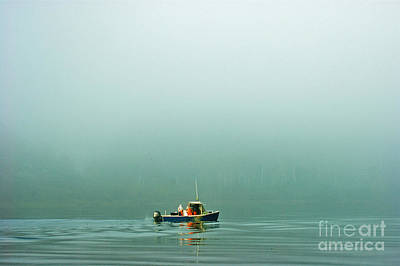 Photograph - Fishing In The Fog by Christopher Mace