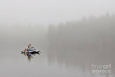 Photograph - Fishing In The Fog by Karin Pinkham