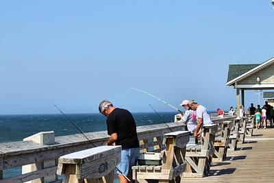 Fishing Is Serious Business Art Print by Carolyn Ricks