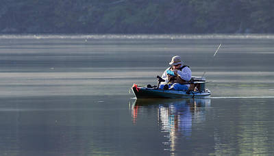 Photograph - Fishing Lake Shandoah by David Lester