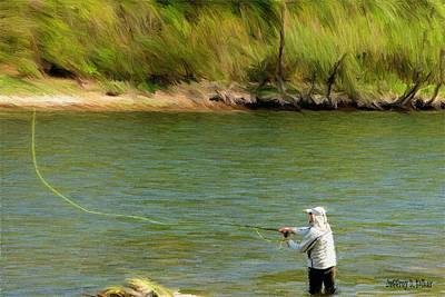Sports Paintings - Fishing Lake Taneycomo by Jeffrey Kolker