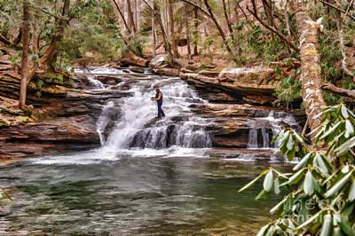 Fishing Mill Creek Falls In West Virginia Art Print by Dan Friend