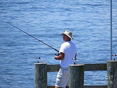 Photograph - Fishing  by Nancy Patterson