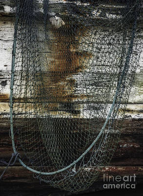 Photograph - Fishing Net And Derelict Boat by David Waldrop