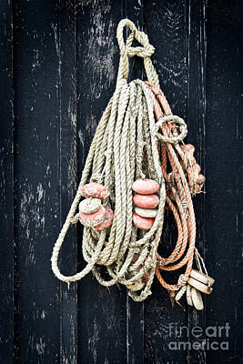 Painted Door Photograph - Fishing Net by Delphimages Photo Creations