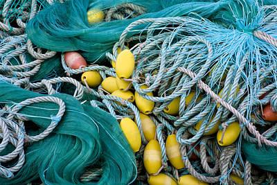 Net Photograph - Fishing Nets by Frank Tschakert