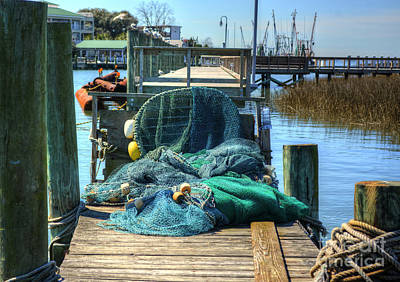 Photograph - Fishing Nets by Kathy Baccari