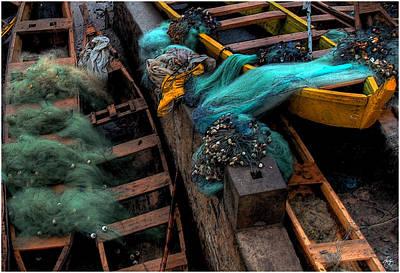 Photograph - Fishing Nets On Ghanain Boats by Wayne King
